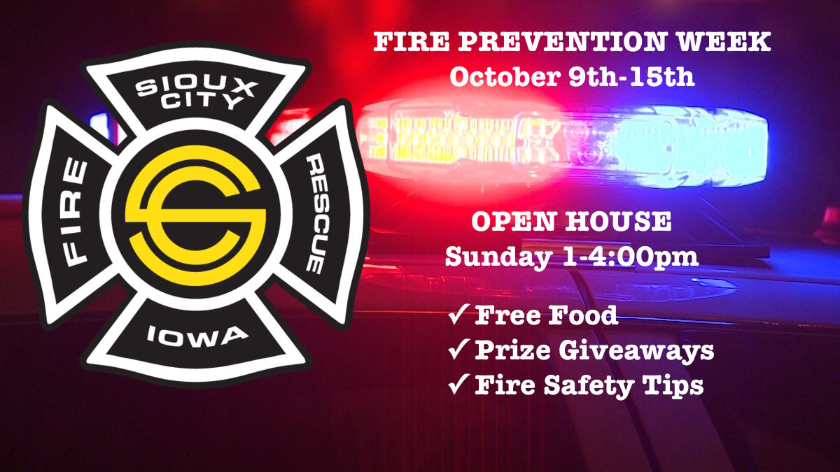 Sioux City Fire Rescue kicks off fire prevention week with open house