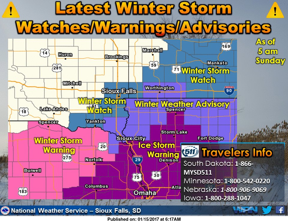 Winter Weather headed for Siouxland Ice and Snow Mix
