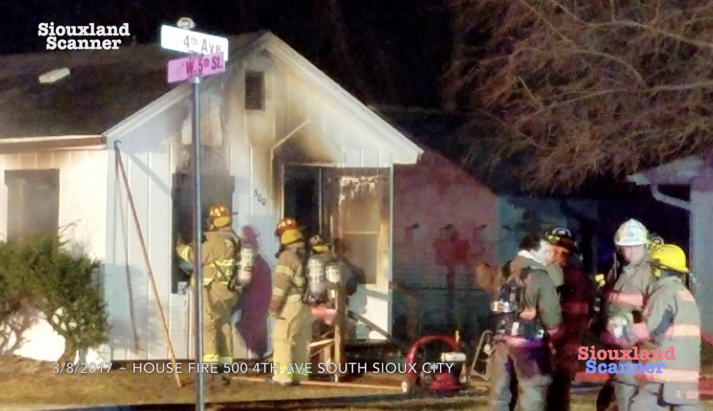 South Sioux City House Fire Wednesday Evening
