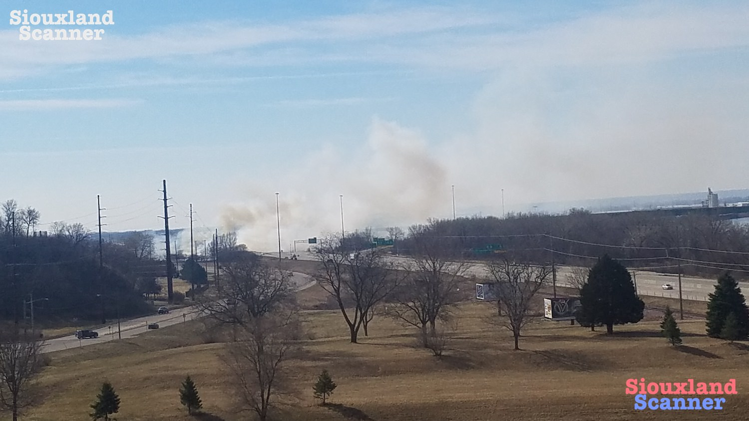 Passing train likely caused Multiple Grass Fires along Interstate 29