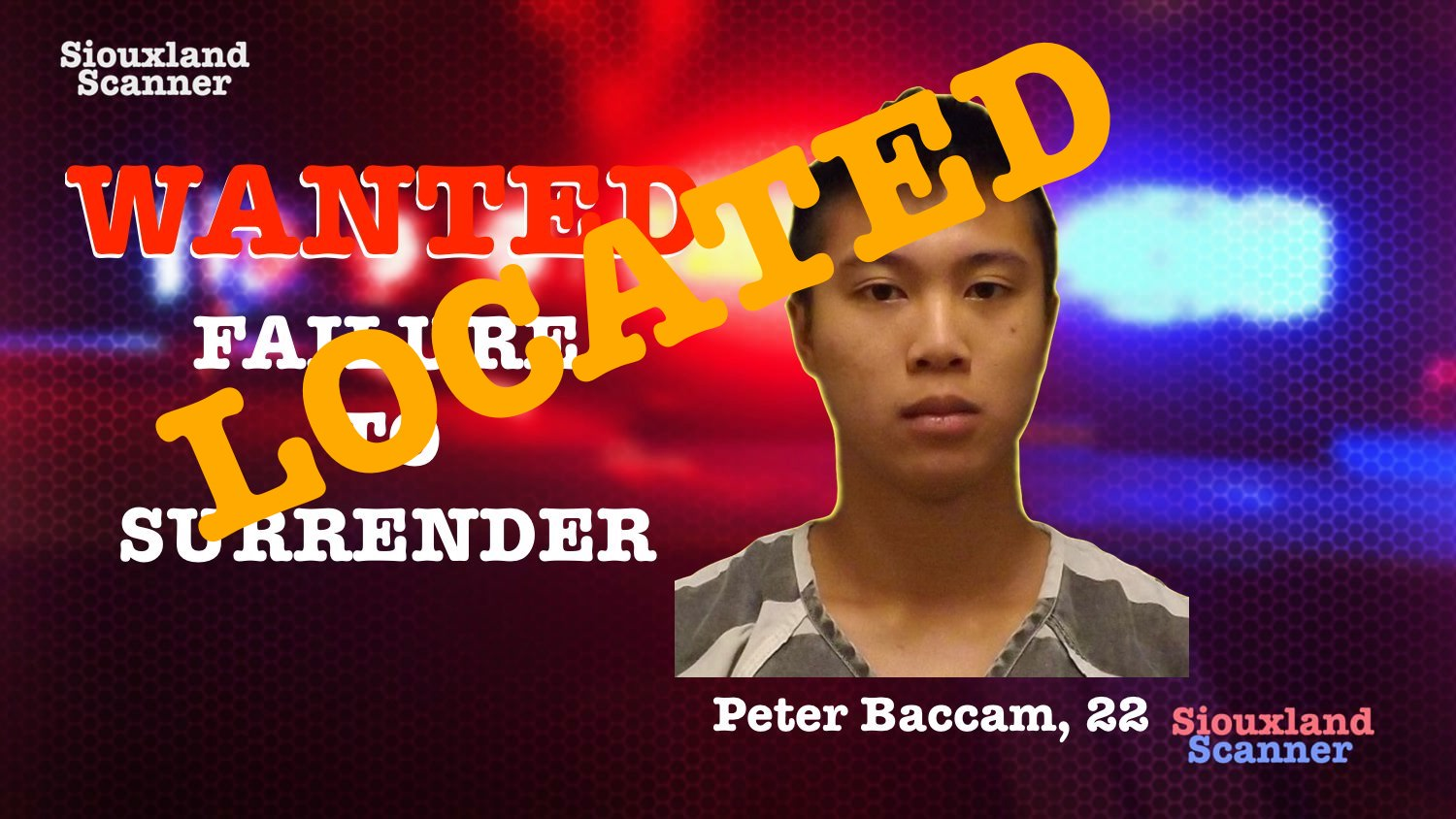 CAPTURED Peter Baccam Failure to Surrender