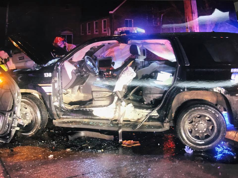 Suspected intoxicated driver crashes into Police SUV in Sioux City
