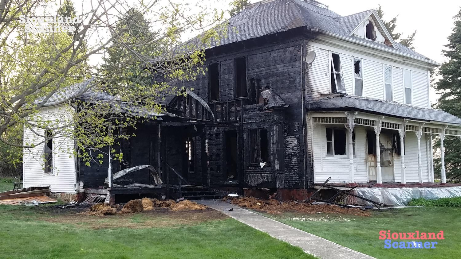 Rural Plymouth County Farmhouse a total loss after Sunday Evening Fire