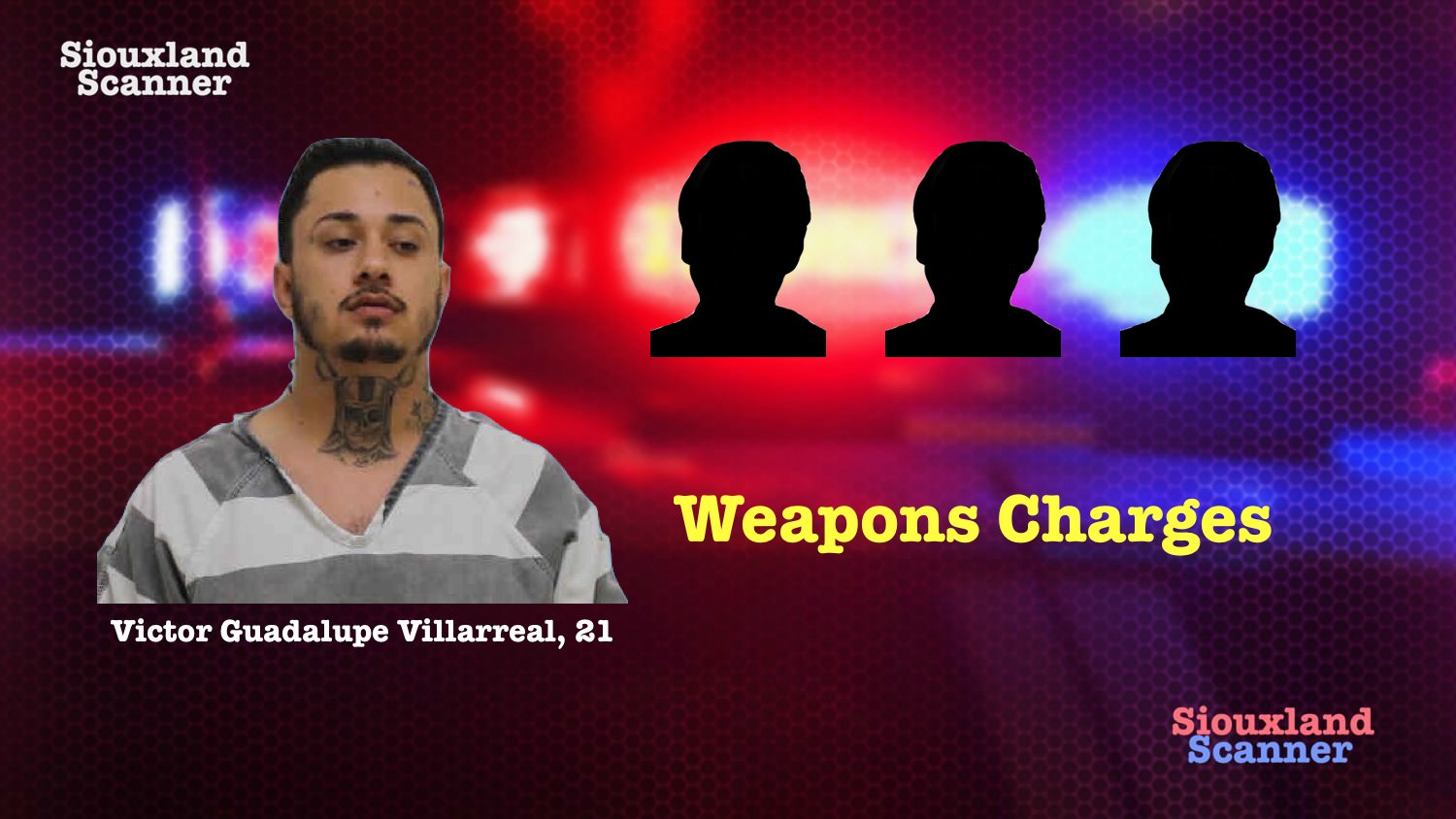 Man and 3 teens arrested on weapons charges in Le Mars Tuesday Morning