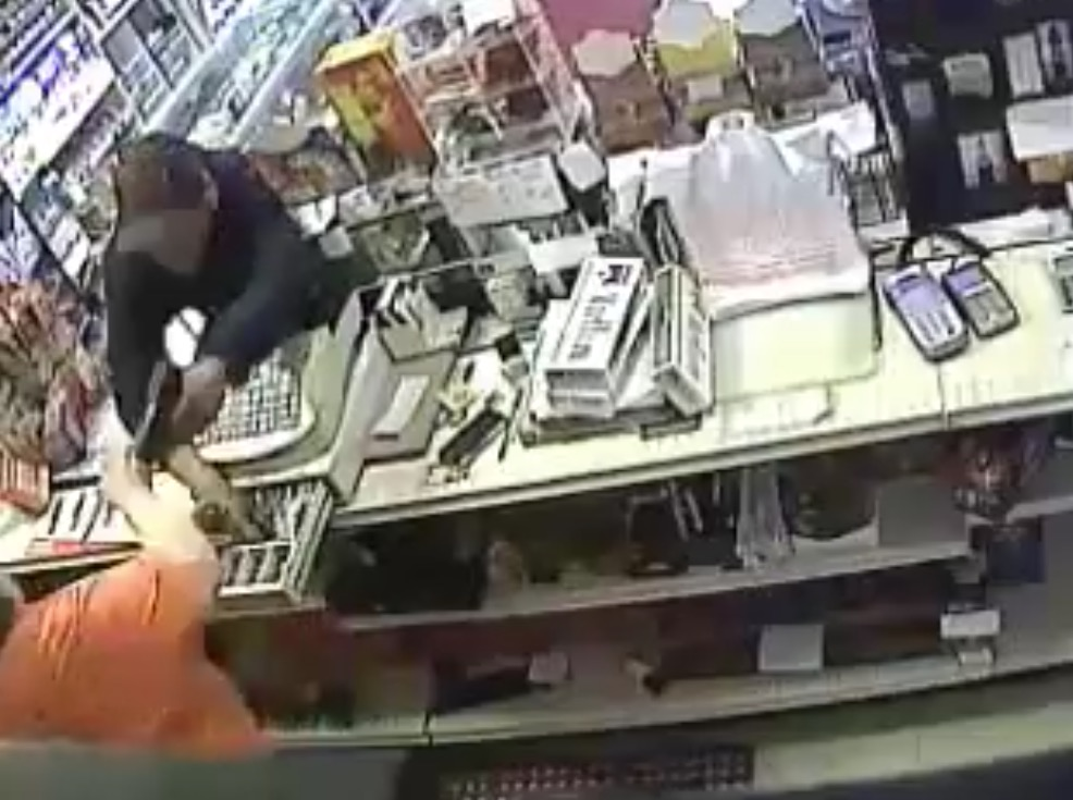 Armed robbery of Tobacco Hut Surveillance video released