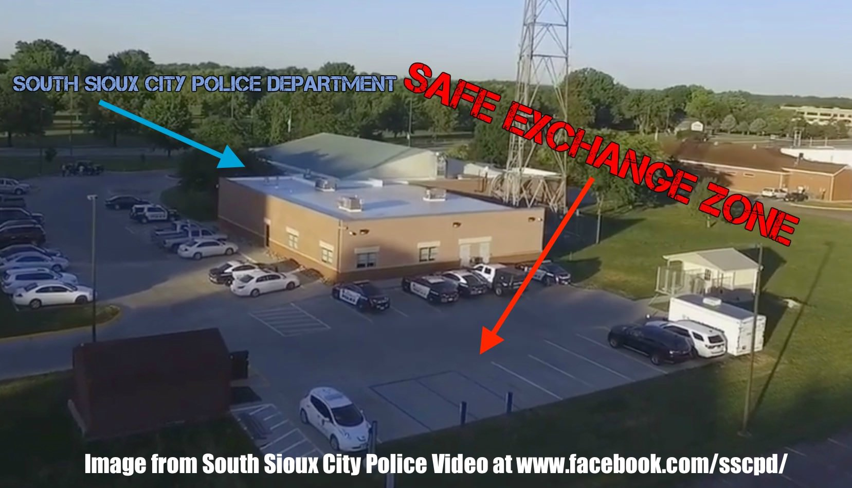 Safe Exchange Zone setup at South Sioux City Police Department