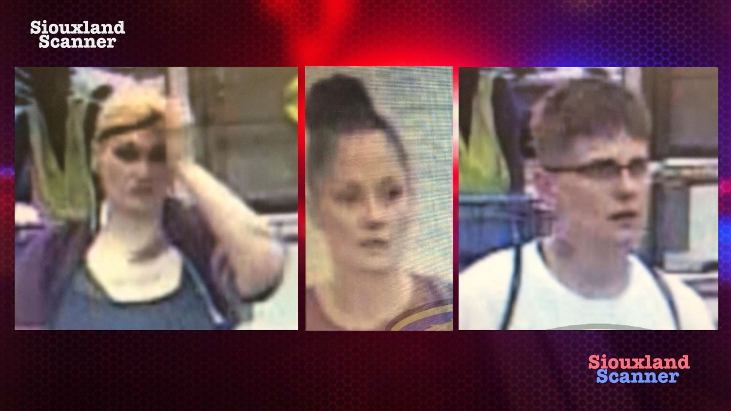 Identified South Sioux City searching for Persons of Interest in Theft