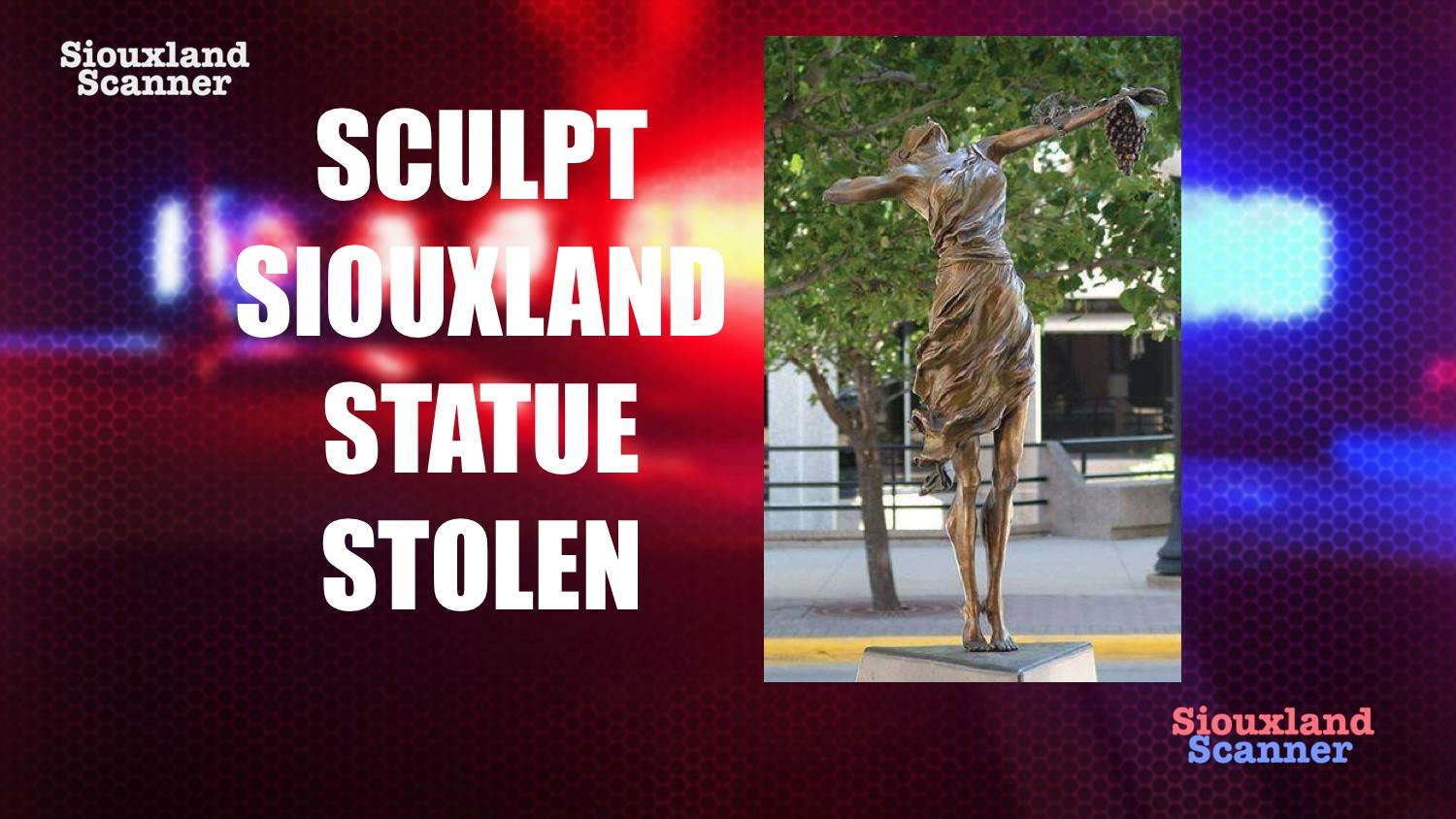 Sculpt Siouxland statue stolen from downtown Sioux City