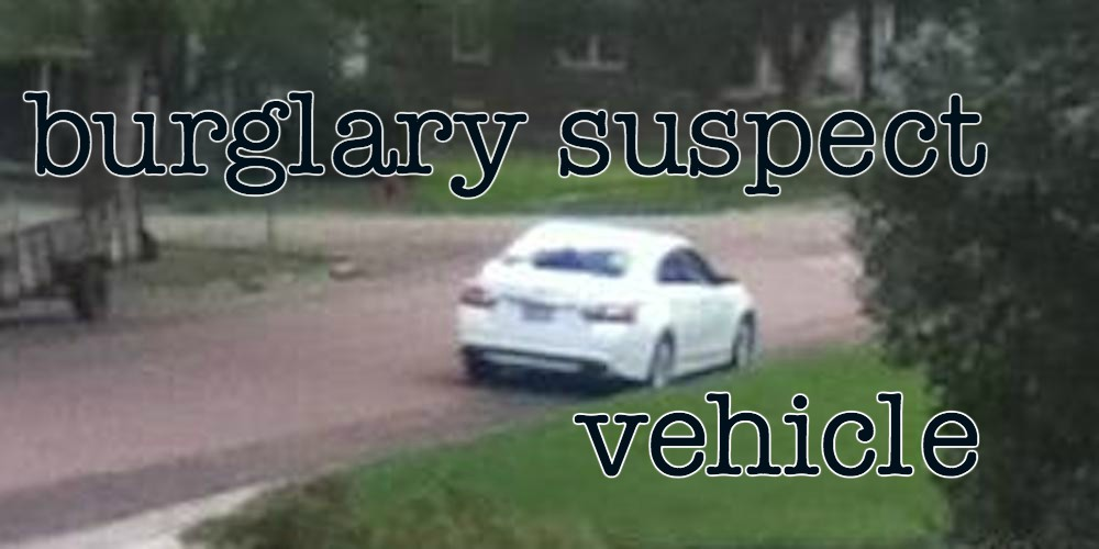Orange City Police searching for suspect vehicle in Alton Iowa burglary
