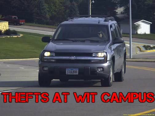 Thefts on WITCC Campus in Sioux City a Message to Staff and Students