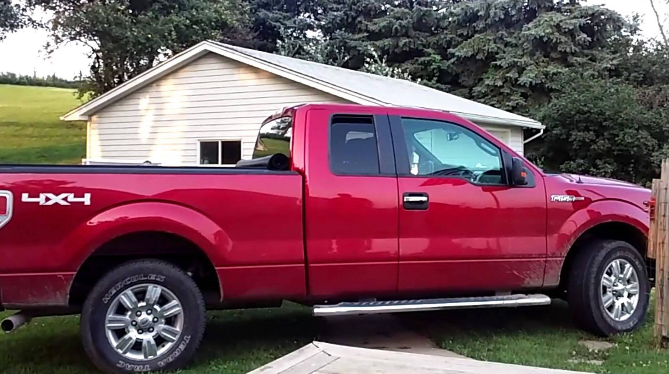 RECOVERED Red 2012 Ford F150 pickup from Leeds in Sioux City overnight Saturday