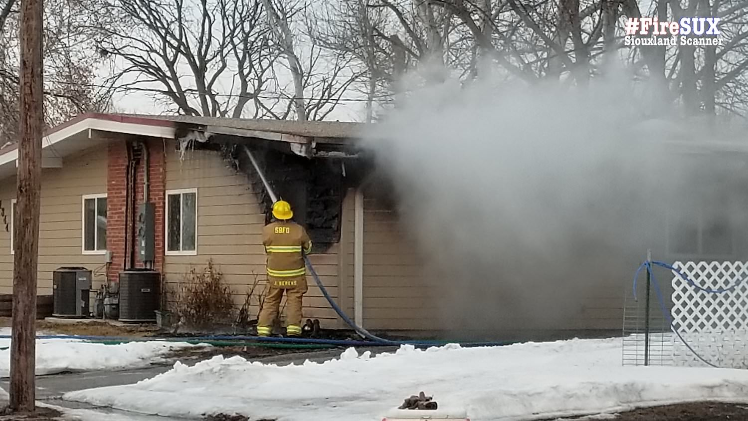 Sergeant Bluff Duplex fire intentionally set Wednesday police say
