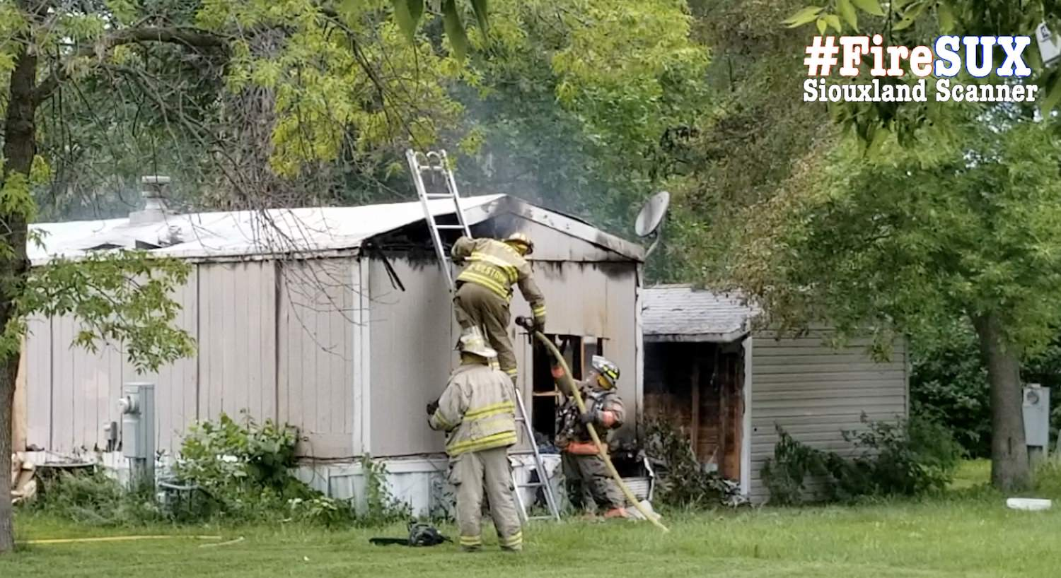 Fire destroys mobile home at Siouxland Estates in rural South Sioux City