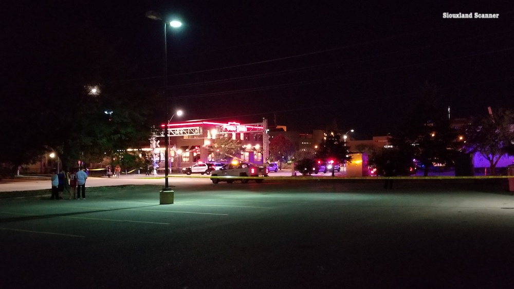 Man dies late Monday after being hit by a train in downtown Sioux City