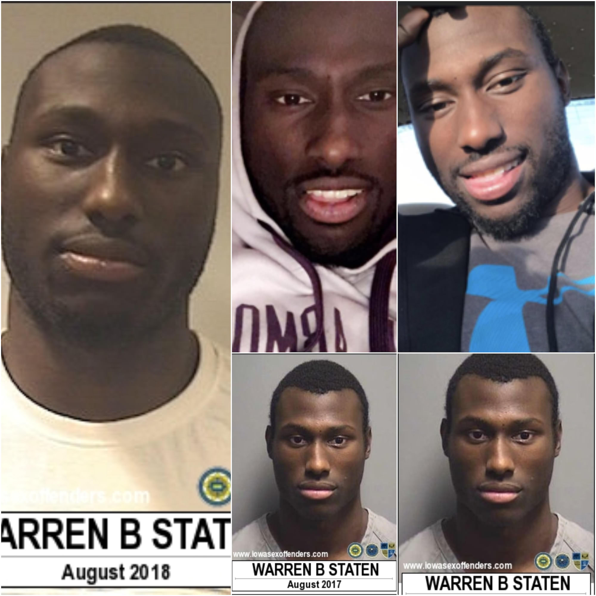 WANTED Warren Blake Staten Sex Offender Violation and Charges in Akron Iowa