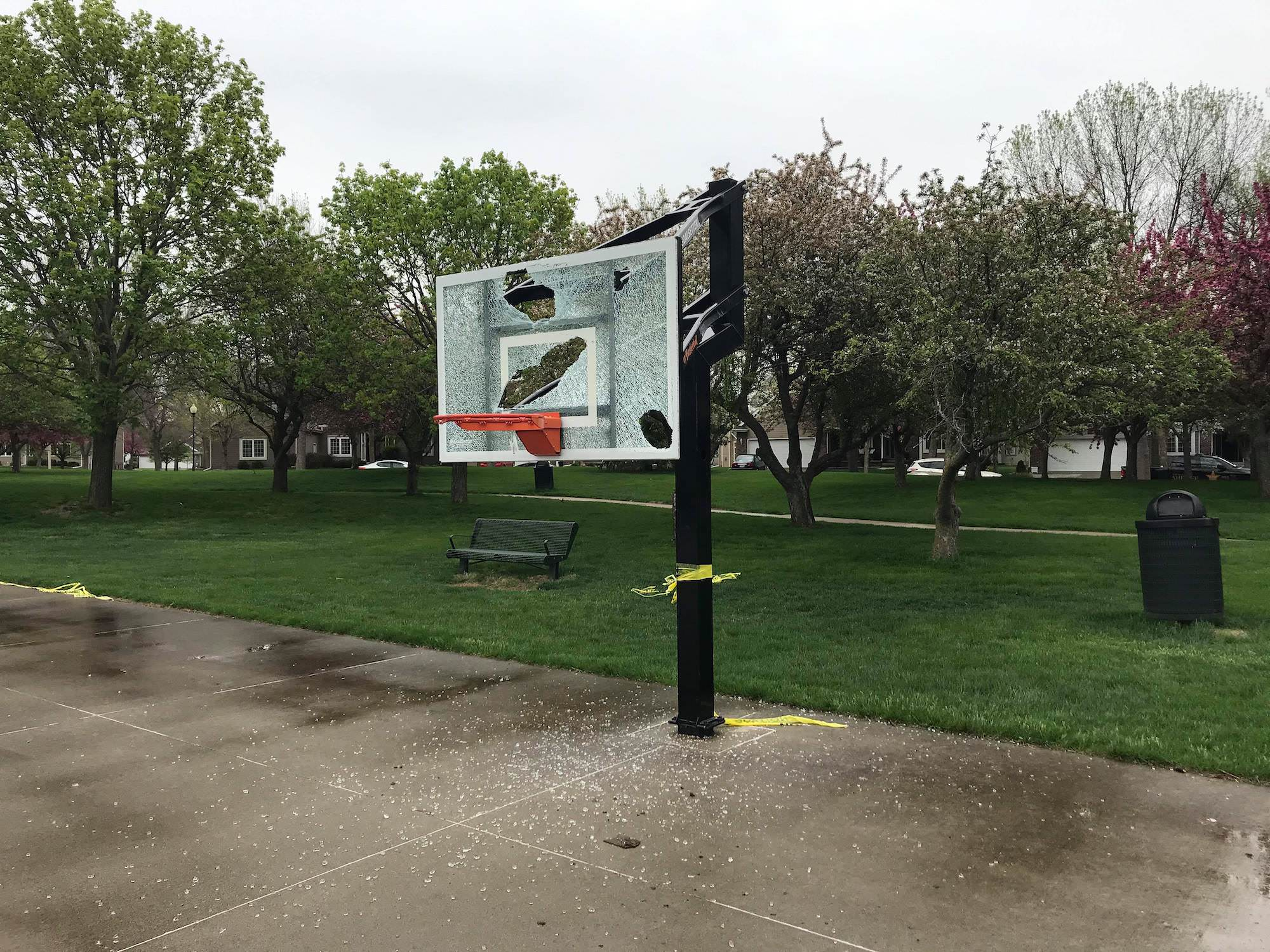 Meadows Park in Dakota Dunes Vandalized Law Enforcement seeking information