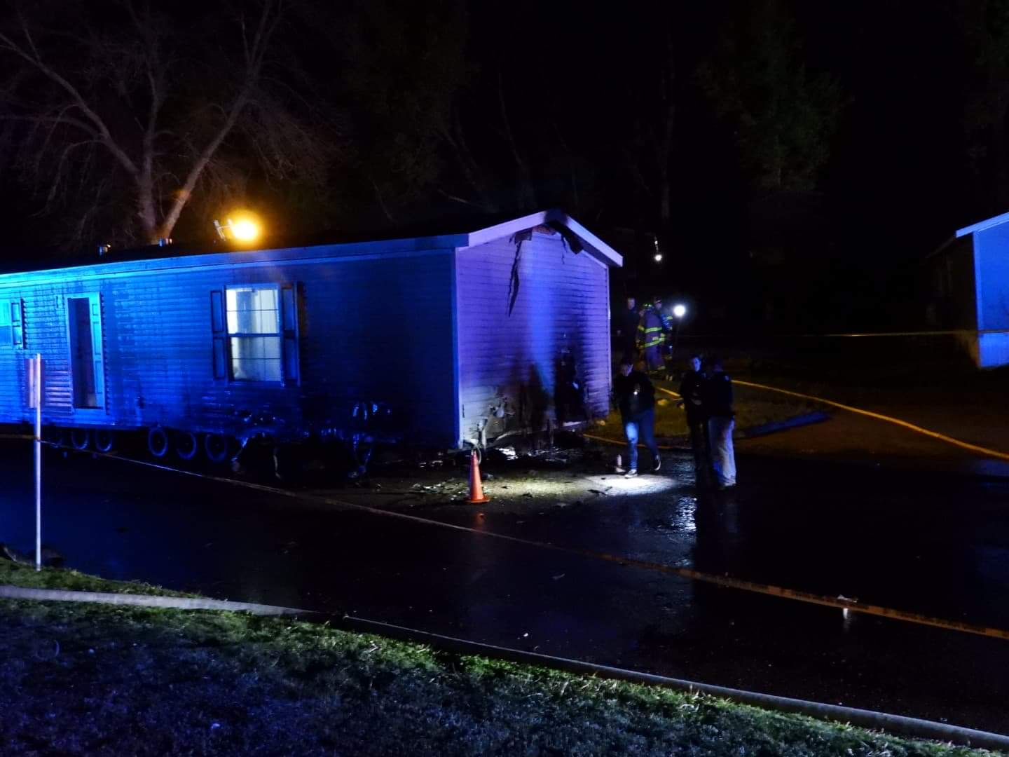 One Dead After Motorcycle vs Mobile Home Traffic Accident and Fire