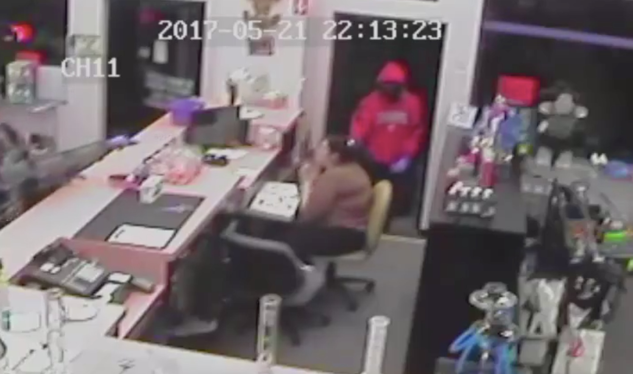 Surveillance video Police searching for two suspects in Doctor Johns Armed Robbery