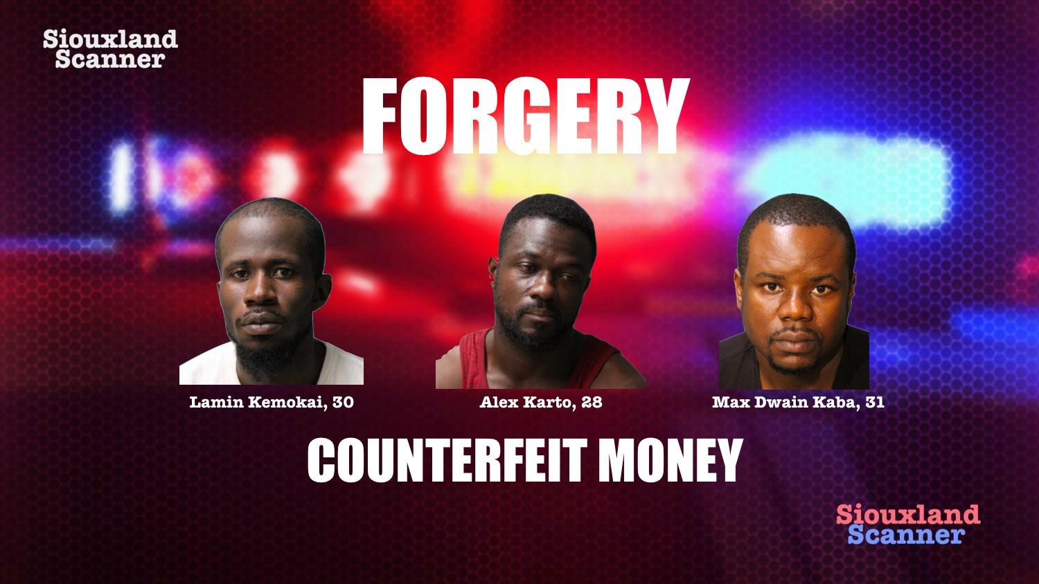 Three arrested after clerks catch them trying to pass fake fifty dollar bills