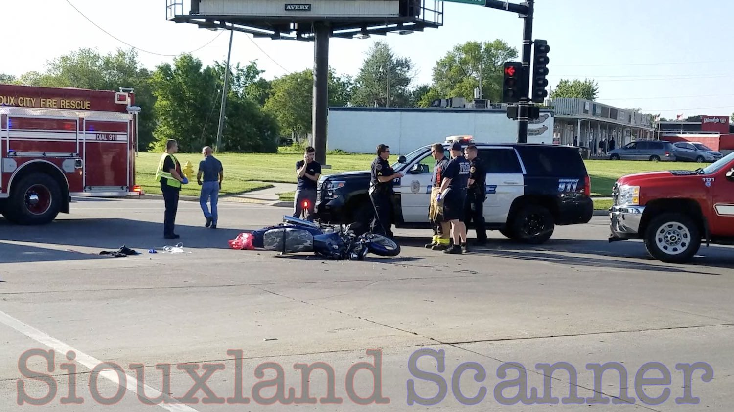 Motorcycle collides with turning car on Hamilton Boulevard
