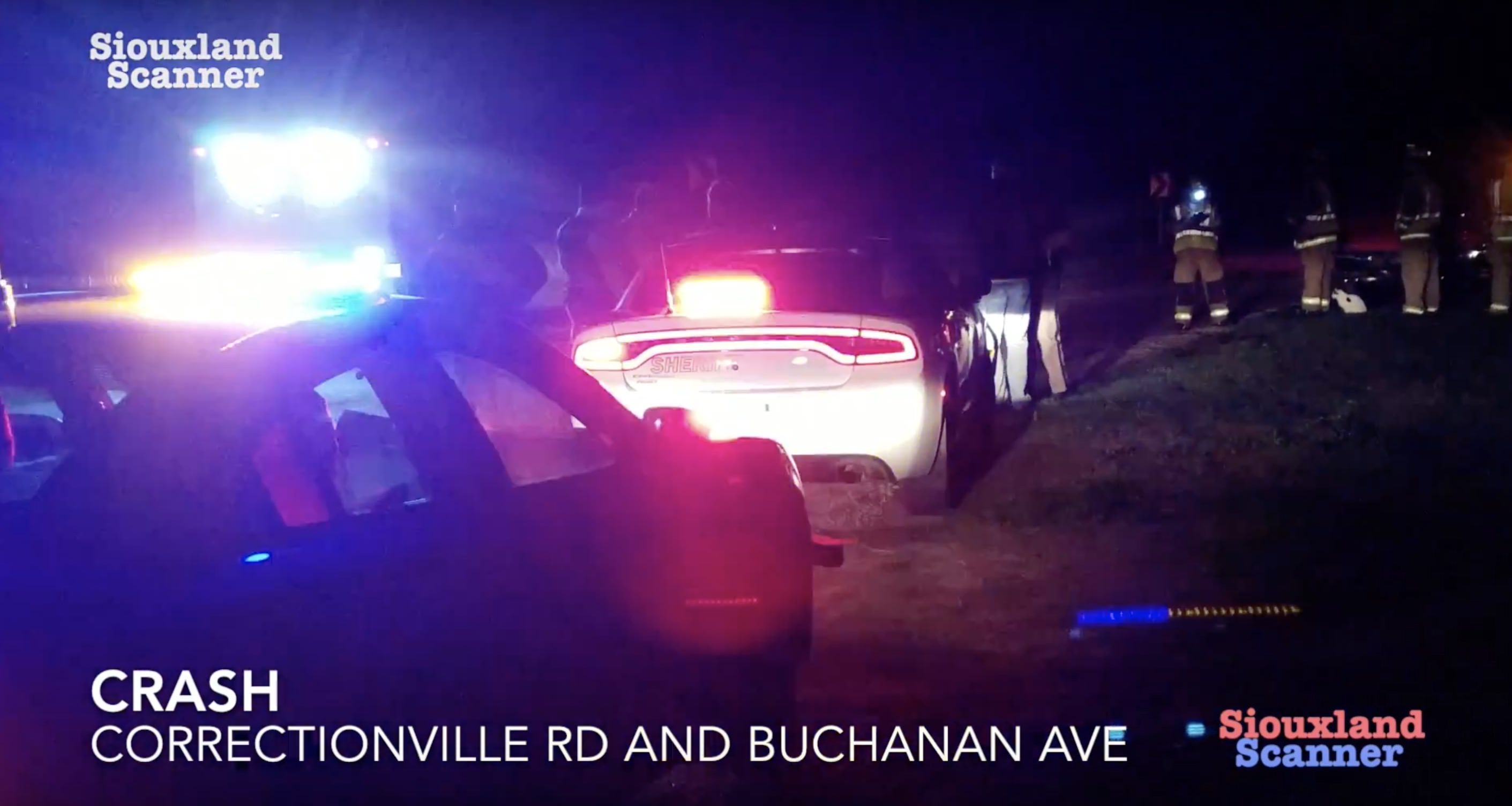 Arrest for OWI after crash at Correctionville Rd and Buchanan Ave