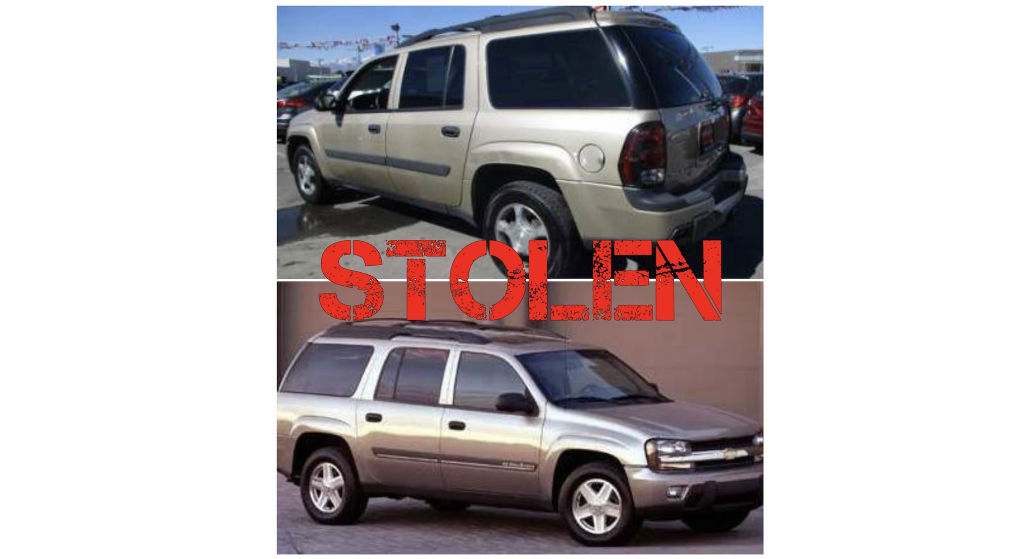 Stolen Gold Chevy Trailblazer from Jones Street in Sioux City