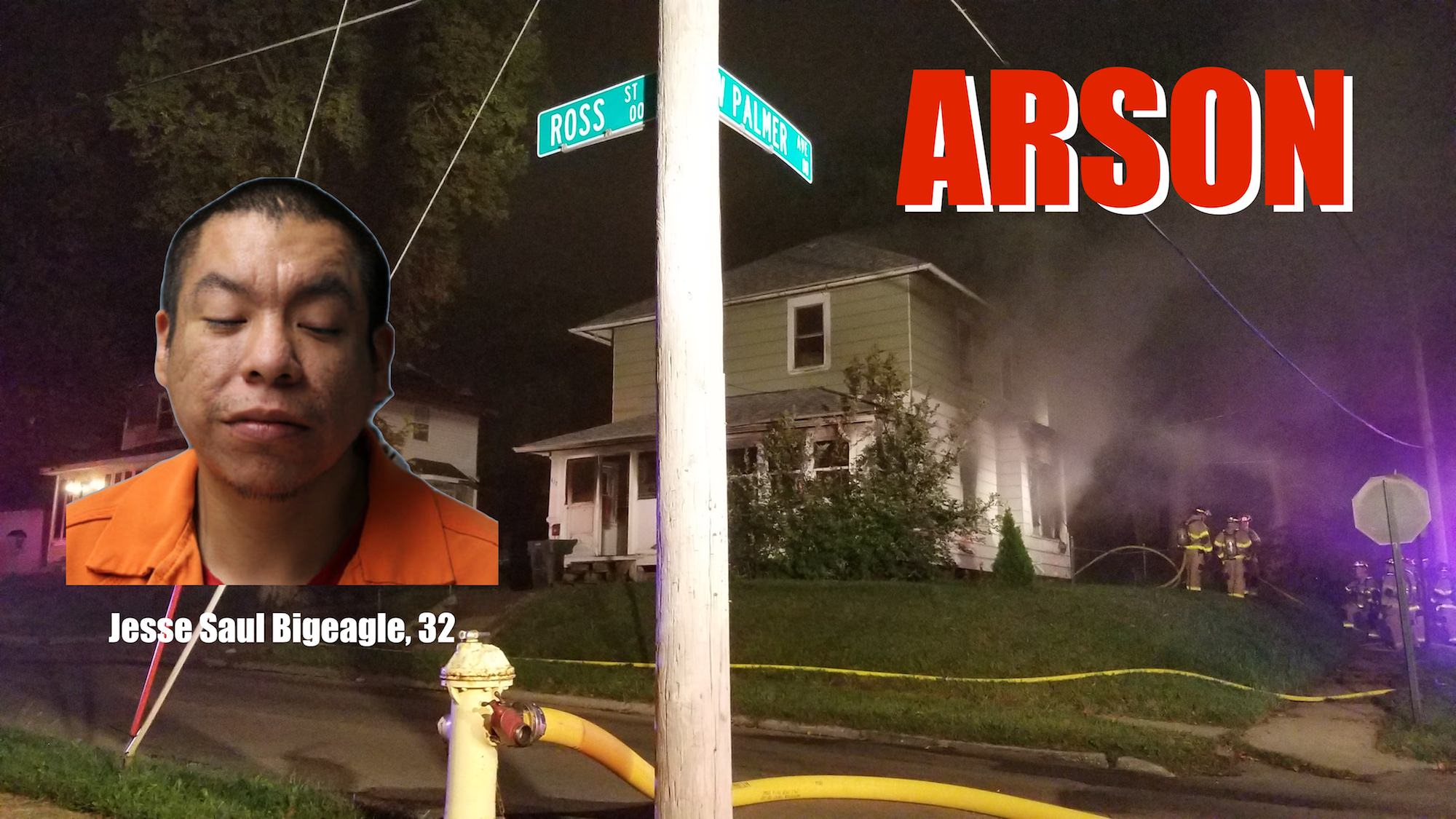 Man charged with arson after fire on Ross Street in Sioux City