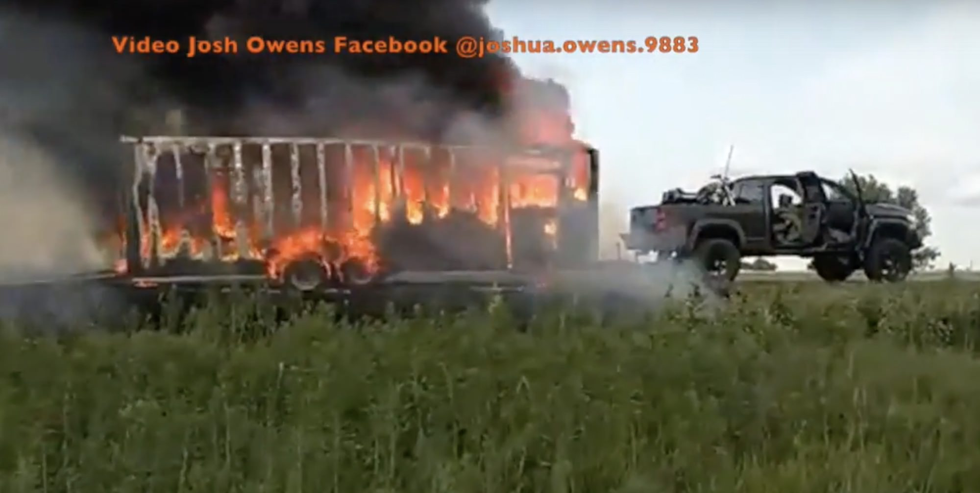 Trailer fire South of Sioux City Iowa was Josh Owens from Discovery Channels Moonshiners