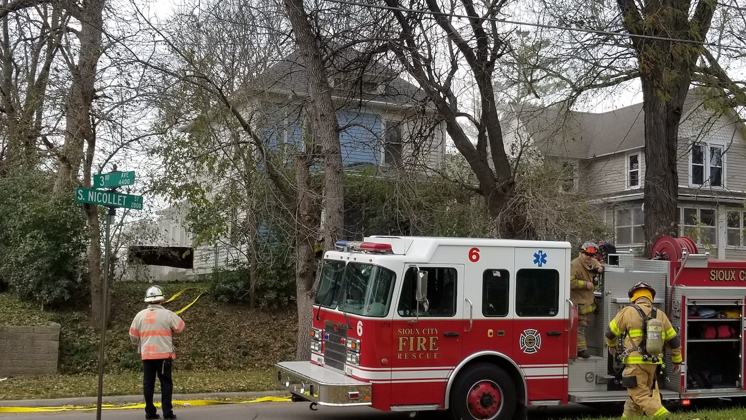 Electrical fault above 2nd floor bathroom determined to be cause of house fire at 2023 South Nicollet