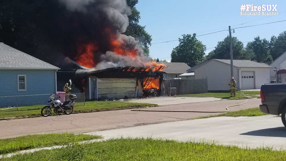 Garage in Riverside a total loss after late afternoon fire Monday